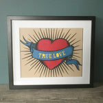Load image into Gallery viewer, Valentine's Tattoo Heart Papercut Art