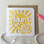 Load image into Gallery viewer, Mum, Dad … You Are My Sunshine Card