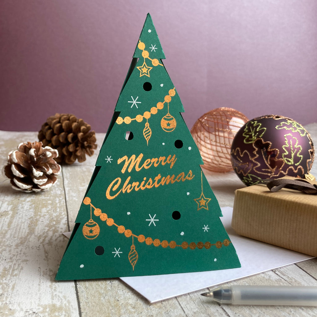 Luxury 3D Christmas Tree Card Pack