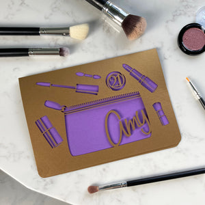 Make Up Papercut Card