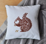 Squirrel Modern Cross Stitch Kit