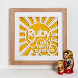 Sunshine Paper Cut Art