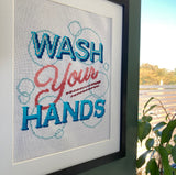 Wash Your Hands Cross Stitch Embroidery Kit
