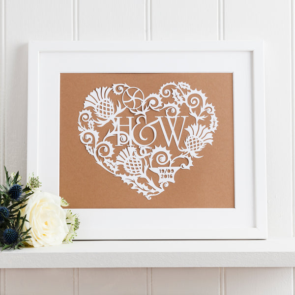 Gretna Green Wedding Paper Cut Art