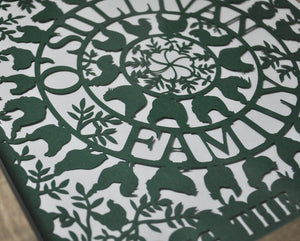 The Good Life Family Paper Cut Art