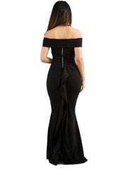 Black Elegant Night Out Long Dress - Sixteen Bars
