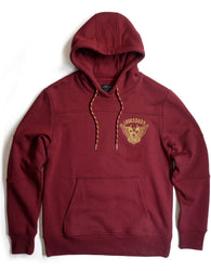 Copper Rivet -  Burgundy Legendary Embroidered Fleece Hoody
