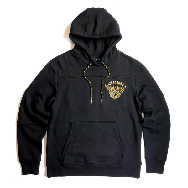 Copper Rivet -  Black Legendary Embroidered Fleece Hoody - Sixteen Bars