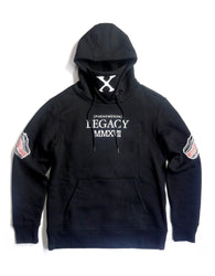 Copper Rivet - Black Eagle Embroidery Back Fleece Hoodie