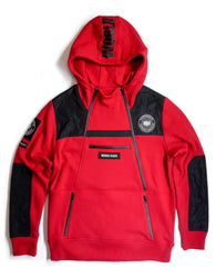 Copper Rivet - Red Utility Anorak Fleece hoodie