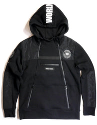 Copper Rivet - Black Utility Anorak Fleece hoodie