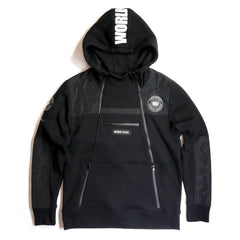 Copper Rivet - Black Utility Anorak Fleece hoodie - Sixteen Bars