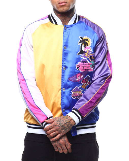 Pink Dolphin - Orange Blue Paradise Patch Souvenir Jacket - Sixteen Bars
