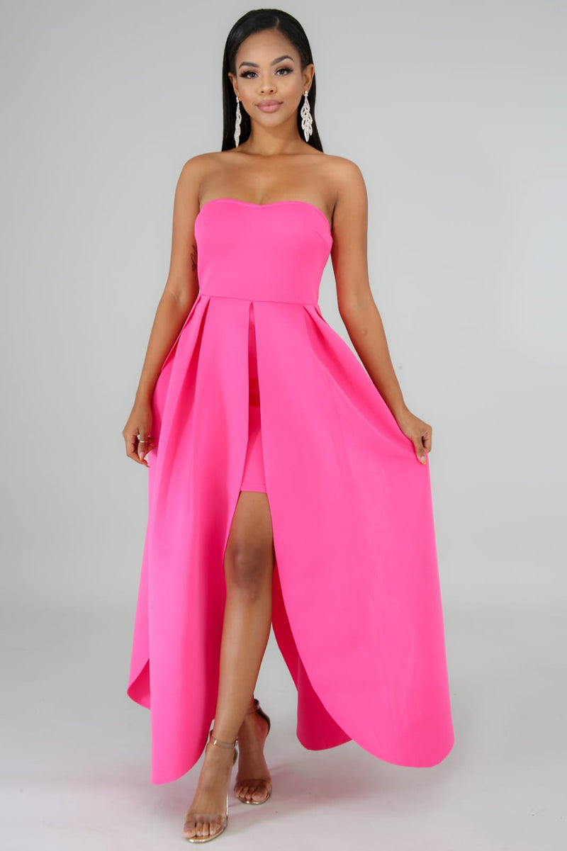 Strapless Lapel Dress - Sixteen Bars