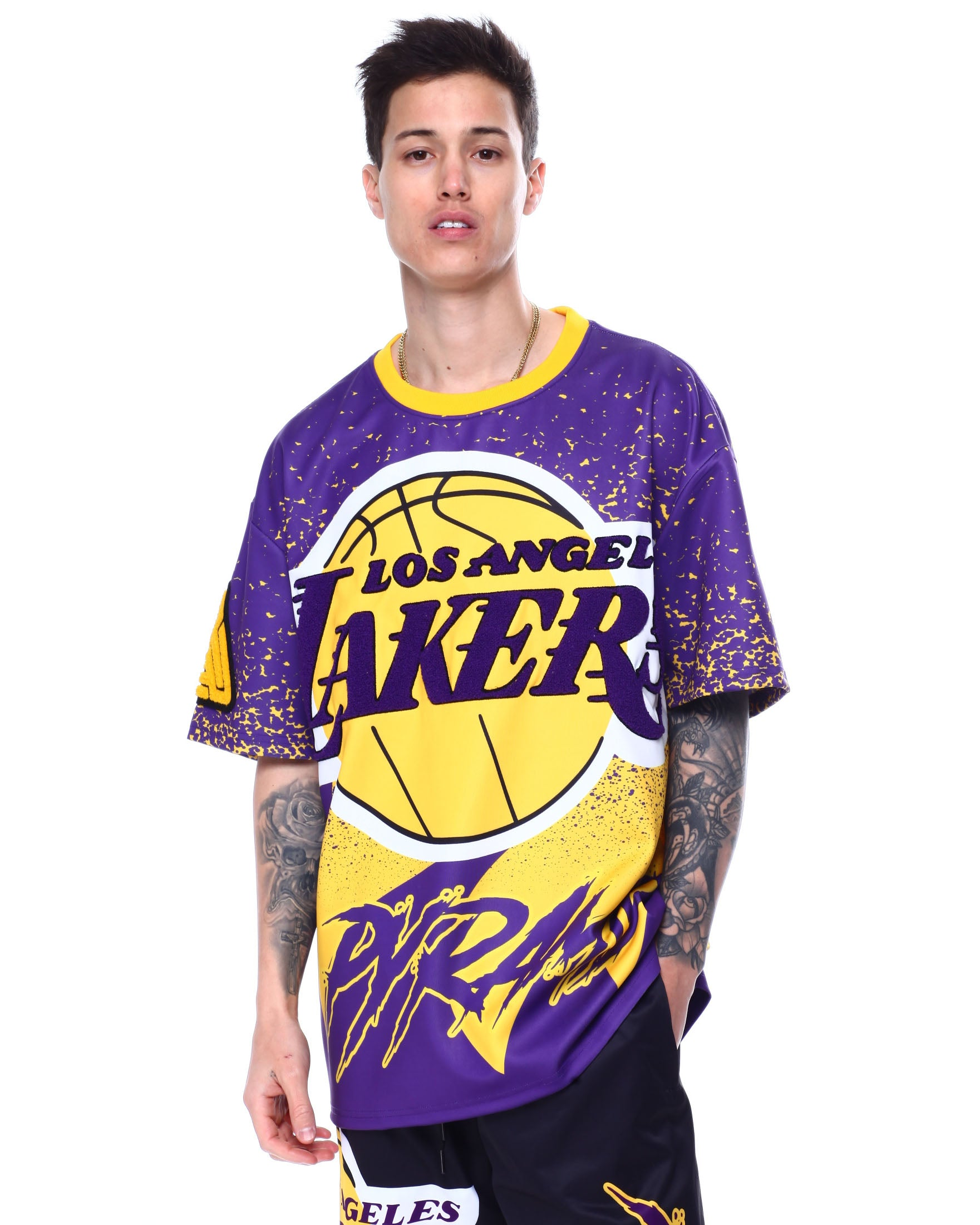 Black Pyramid - BP X Pro Standard Los Angeles Lakers Logo Shirt - Sixteen Bars