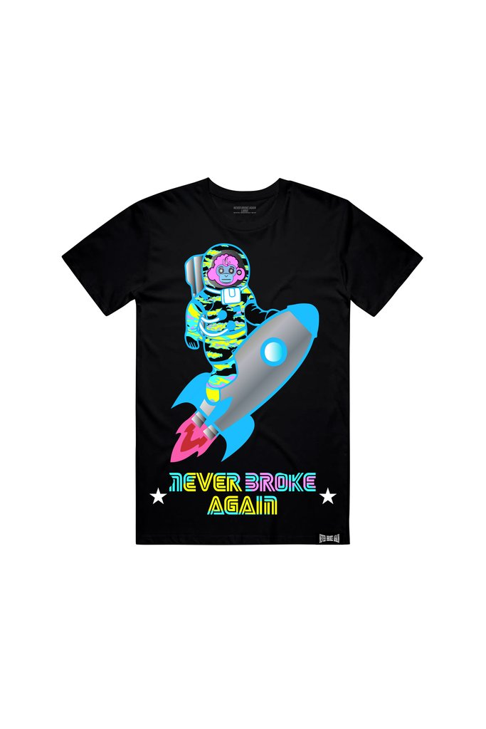Never Broke Again - Black Rocket T-Shirt