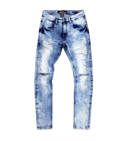 Copper Rivet -  Light Blue Distressed Denim