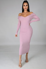 Take Me Anywhere Knit Dress - Mauve