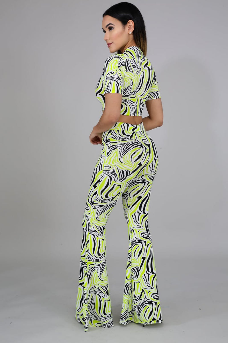 Its Complicated Bell Bottom Pants Set - Sixteen Bars