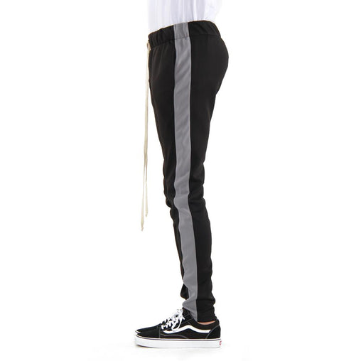 EPTM - Black w/Charcoal Grey Stripe Track Pants - Sixteen Bars