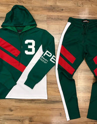 Copper Rivet - Green/White Hype Track Suit