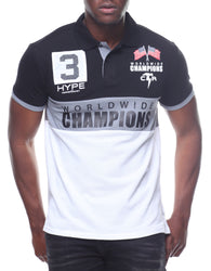 Copper Rivet - Black/White Champion Polo