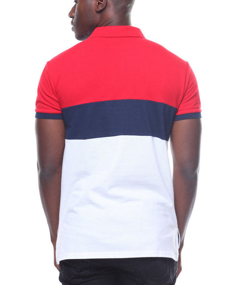 Copper Rivet - Blue/Red Champion Polo - Sixteen Bars