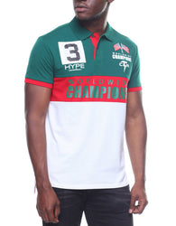 Copper Rivet - Green/Red Champion Polo