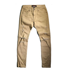 Copper Rivet - Khaki Distressed Denim - Sixteen Bars