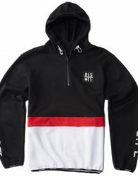 RS1NE - Black 3-Tone BOOST Anorak Pull Over Hoodie