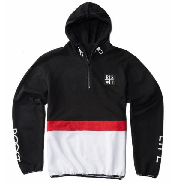 RS1NE - Black 3-Tone BOOST Anorak Pull Over Hoodie - Sixteen Bars