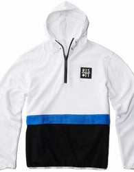 RS1NE - White 3-Tone BOOST Anorak Pull Over Hoodie