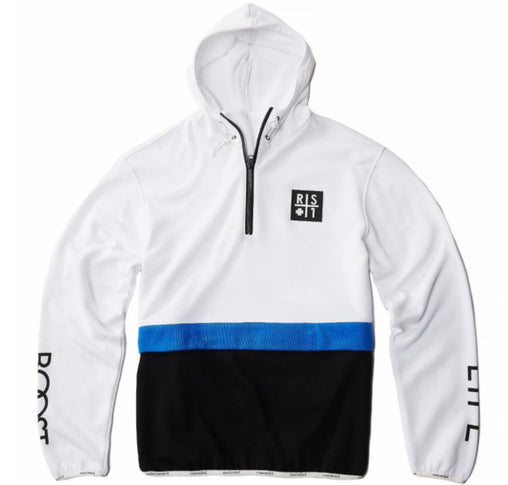 RS1NE - White 3-Tone BOOST Anorak Pull Over Hoodie - Sixteen Bars