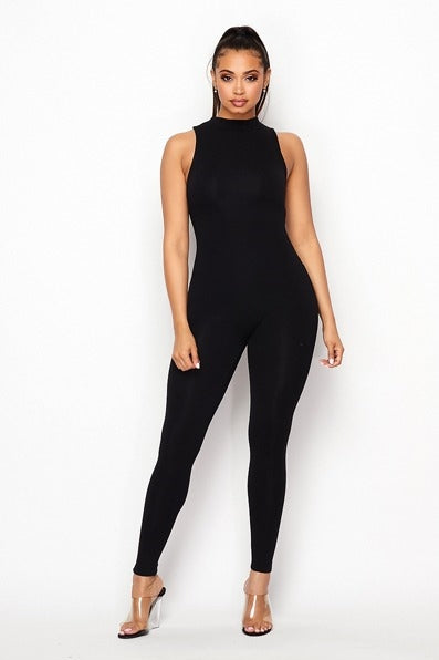 Just Right Sleeveless Jumpsuit - Black