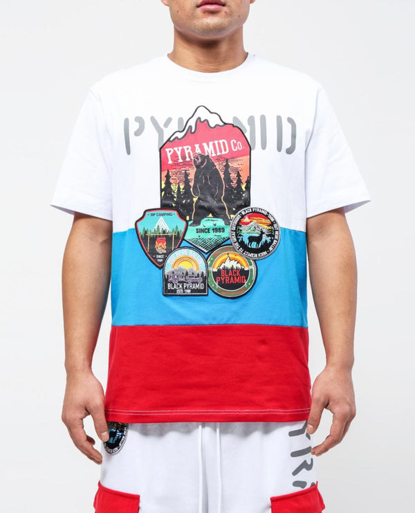 Black Pyramid - White Outdoor Tee - Sixteen Bars