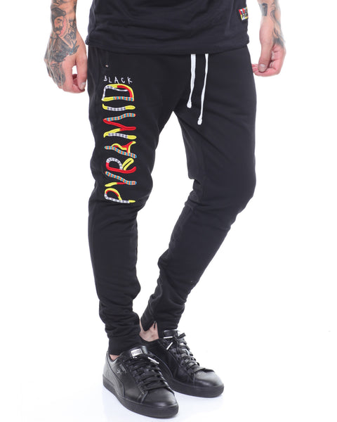 Black Pyramid - Black Whimsical Sweatpants - Sixteen Bars