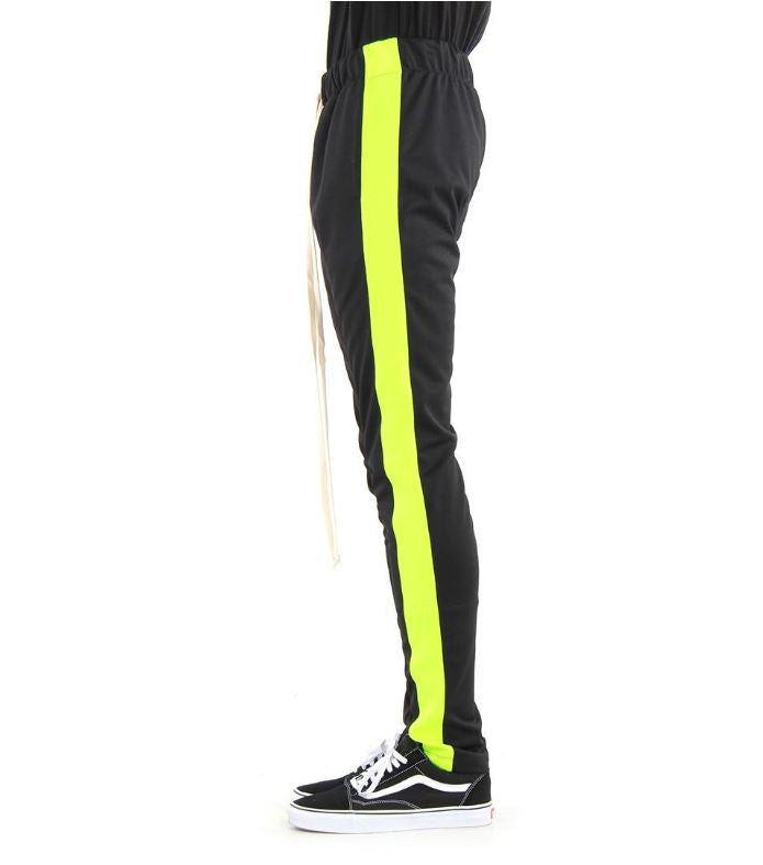 EPTM - Black/Neon Green Stripe Track Pants - Sixteen Bars