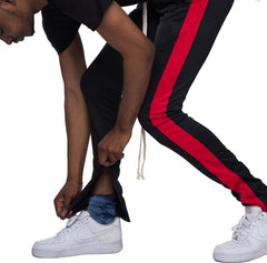 EPTM - Black/Red Stripe Track Pants - Sixteen Bars