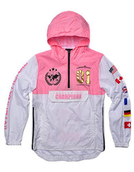 Copper Rivet - Pink Champion Windbreaker