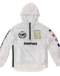 Copper Rivet - White Champion Windbreaker