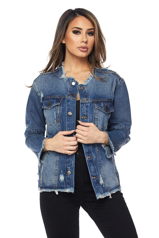 Come and Goes Distressed Jean jacket - Sixteen Bars