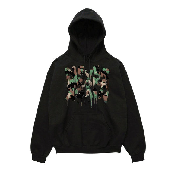 Never Broke Again - Black Drip Camouflage Hoody - Sixteen Bars