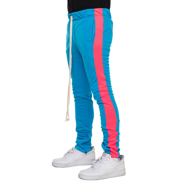 EPTM - Aqua/Pink Single Stripe Track Pants - Sixteen Bars