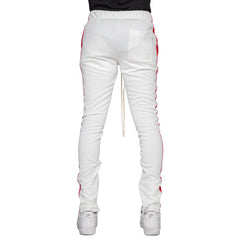 EPTM - White/Red Single Stripe Track Pants - Sixteen Bars