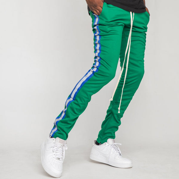EPTM - Green/Blue Reflective Stripe Track Pants - Sixteen Bars