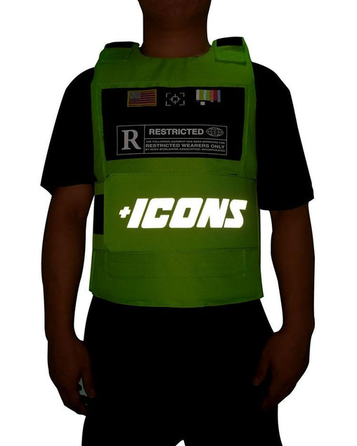 Hudson Outwear - Green ICON Reflective Vest - Sixteen Bars