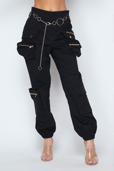Black 3D Cargo Pants - Sixteen Bars