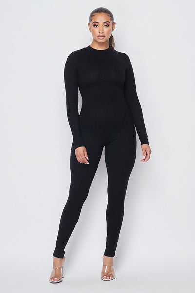 Right Moment Binding Jumpsuit - Black