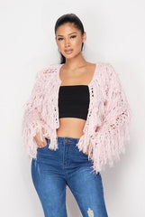 Ready or Not Shaggy Sweater - Pink