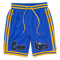 Cookies - Blue Hardwood Flava  Basketball Shorts - Sixteen Bars